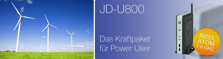 JD-U800. Das Kraftpaket für Power User.